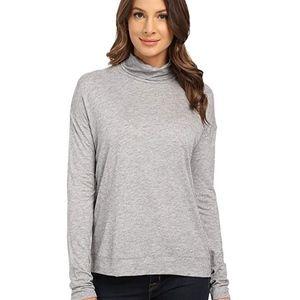 Mavi Jeans Women's Turtleneck Top Grey Melange XS